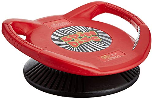 Spin Disc Sit and Spin Perpetual Motion Spinning Saucer | Sensory Toy for Motor Skill Building and Balance Coordination |  Twirling Dizzy Play Disk, Red