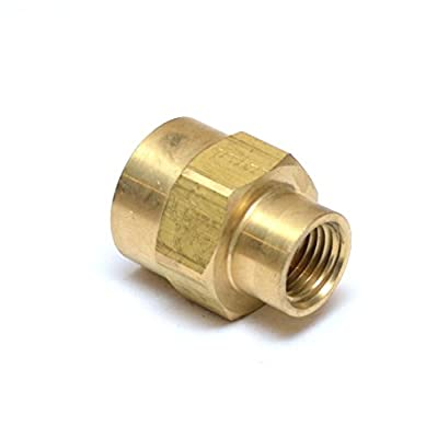"FasParts 1/2"" Female NPT to 1/4"" Female NPT FIP FPT Reducing Coupling Brass Pipe Fitting Fuel / Air / Water / Boat / Gas / Oil WOG"