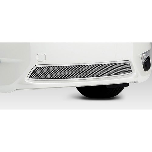 T-Rex 55768 Upper Class Polished Stainless Steel Finish Small Formed Mesh Bumper Grille Overlay for Nissan Altima 2.5 S
