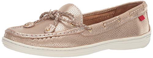 Marc Joseph New York Womens Genuine Leather Pacific Boat Shoe, gold/metallic grainy 7 M US