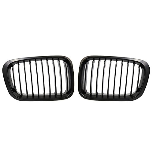 uxcell Matte Black Kidney Grille Grill for BMW 3 Series 98-01 E46 320i 325i 328i 330i 4 Door Sedan