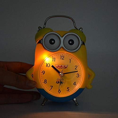 Lampe Schlafsaal Kinderzimmer Tischuhr sch/öner Timer f/ür Studenten mingyangwl Wecker mit niedlichem gelben Minions-Wecker f/ür Kinder