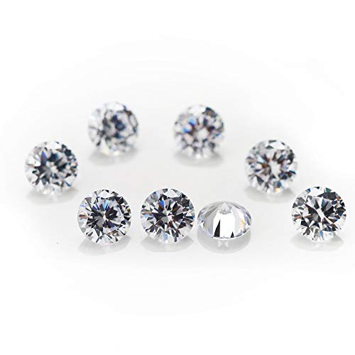 Loose Rhinestones (1000PCS 1.0MM 5A Round Machine Cut White Cubic Zirconia Stone Loose CZ Stones (1.0mm))