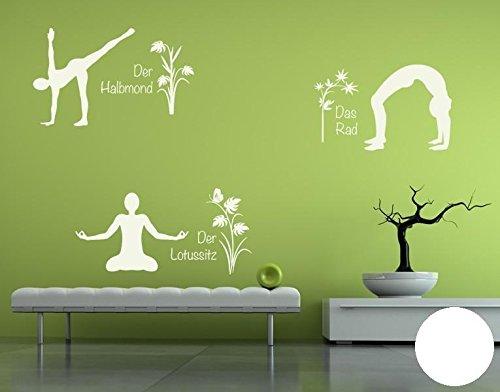 Klebefieber Wandtattoo Yoga Figuren Set 4 B x H  110cm x 170cm Farbe  Creme B071HH39QX Wandtattoos & Wandbilder