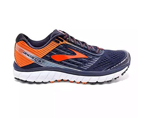 dfb9f017fd726 Galleon - Brooks Men s Ghost 9 Running Shoes Peacoat Red Orange Black 13