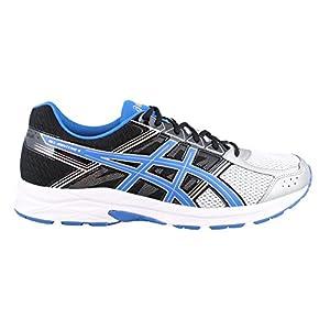 ASICS Men's Gel-Contend 4 Running Shoe, Silver/Classic Blue/Black, 10.5 4E US