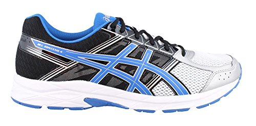 ASICS Men's Gel-Contend 4 Running Shoe, Silver/Classic Blue/Black, 11 M US