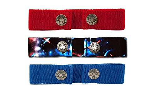 Dapper Snapper Baby & Toddler Adjustable Belt 3 Pack ~ Galaxy, Red, Royal Blue