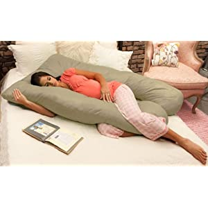 Naomi Home Cozy Body Pillow, Stone
