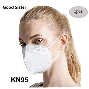 Mascarillas N95, Máscaras Desechables Protección de 5 Capas Reutilizable Transpirable y PM2.5 para Hombres y Mujeres para Deportes al Aire Libre, Fumar, Ciclismo, Viajes 5