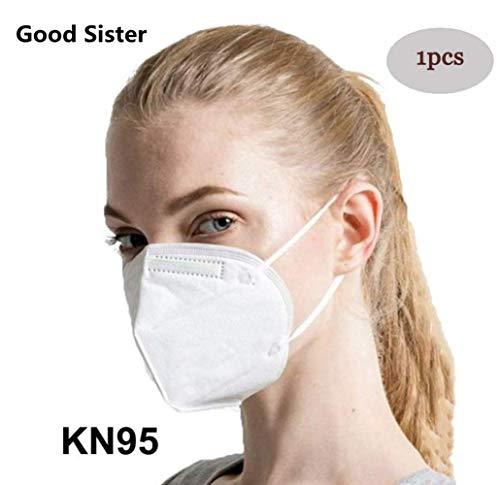 Mascarillas N95, Máscaras Desechables Protección de 5 Capas Reutilizable Transpirable y PM2.5 para Hombres y Mujeres para Deportes al Aire Libre, Fumar, Ciclismo, Viajes 1