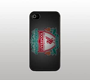 Liverpool FC Snap-On Case for iPhone Apple 4 4s - Hard Plastic - Black - Cool Custom Cover - Barclays Premier League Soccer
