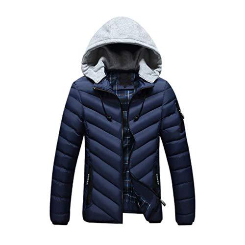 In In In Ragazzi Blau Imbottito Classiche Classiche Classiche Invernale Imbottito Cotone Cotone Cappotto Da In Uomo Staccabile Invernale n77Wx0BA