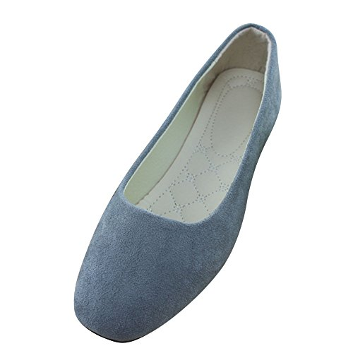 Mädchen festen Breathable Plain MISSMAO Damen Ballerinas Sommer Schuhe grau Cut Müßiggängern bequeme Spitzschuh Low auf vHtRwxT
