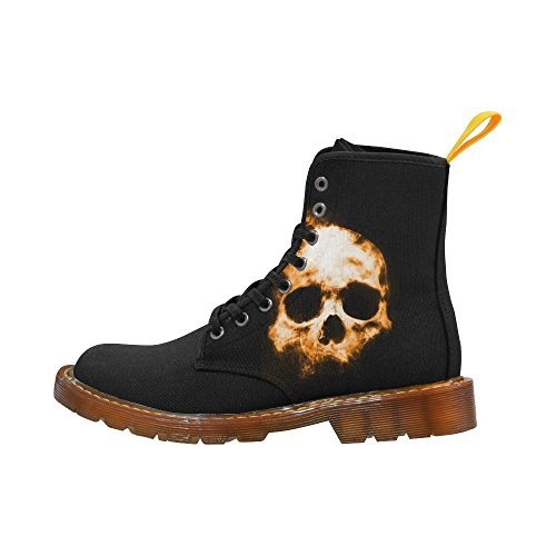 Leinterest Shadowy Skull Martin Boots Fashion Shoes Voor Dames