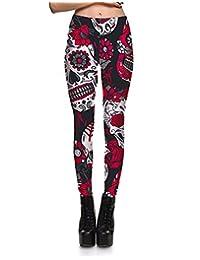 Panegy Womens Printed Skinny Leggings Stretch Full Leggings Party Leggings Pants
