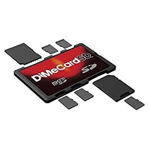 DiMeCard-SD: SD + microSD Memory Card Holder (credit card size holder, writable label)