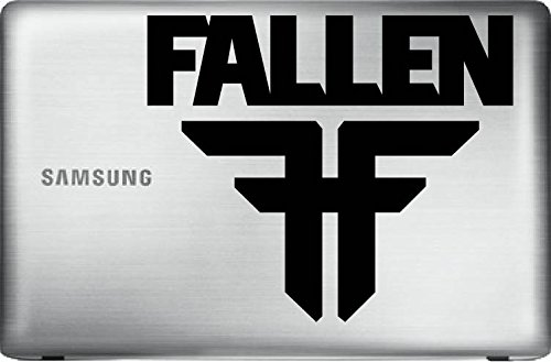 "Fallen Footwear FF (Black 8"") Vinyl Decal Sticker for Car Automobile Window Wall Laptop Notebook Etc.... Any Smooth Surface Such As Windows Bumpers"