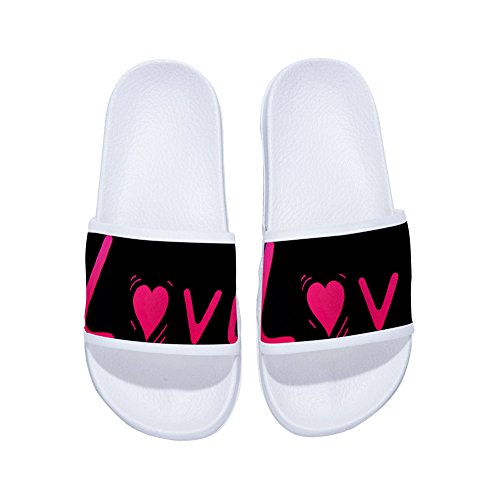 Womens W Pink for Drying Non Cute Mens Quick Quote Slippers Slippers Pattern Slip Love OCPHxP