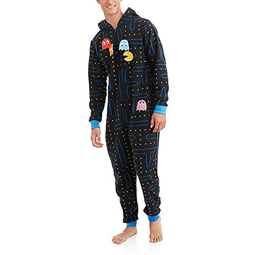 Hoshell_Men Tops Adult Women Men Hooded Onesie Jumpsuit Pajama with Detachable Pieces Playsuit