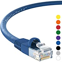 InstallerParts CAT6 Ethernet Cable 25 FT Blue - UTP Booted - Professional Series - 10 Gigabit/Sec Network/High Speed Internet Cable, 550MHZ