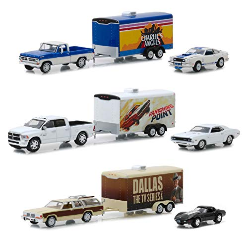 Hollywood Hitch & Tow Series 6 Set of 3 Cars 1/64 Diecast Models by Greenlight 31070 A B C