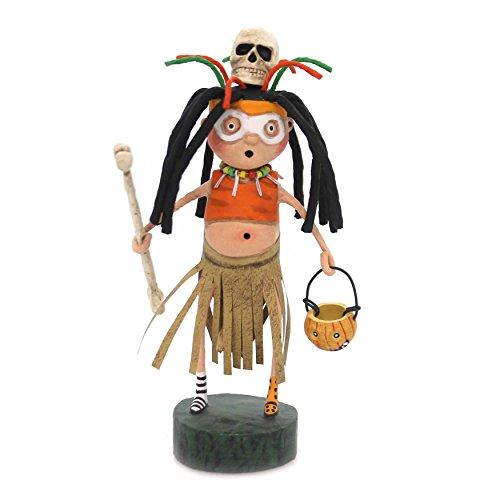 Lori Mitchell WITCH DOCTOR Polyresin Skeleton Mask Pumpkin 11103