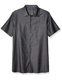 Perry Ellis - Camisa para Hombre, diseño de Rayas horizontales