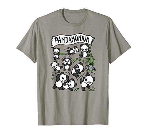 Funny Fighting Panda Pandamonium Gift T-Shirt]()