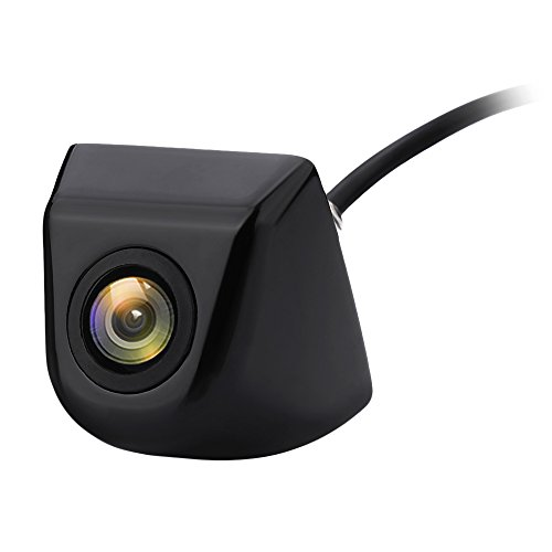 Podofo Achteruitrijcamera Grand Degree kijkhoek universele waterdichte HD voor auto backup camera RV Truck (zwart)