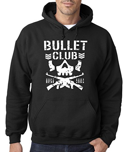 New Way 786 - Hoodie Bullet Club Skull Bone Soldier Japan Pro Wrestling Unisex Pullover Sweatshirt Medium Black New Cute Japan