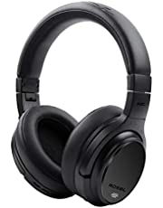 Roxel HD-NC60 Foldable Active Noise Cancelling Premium Wireless Over Ear Headphone, Bluetooth Compatible with Android and IOS Devices, Answer Incoming Calls with Built in Mic