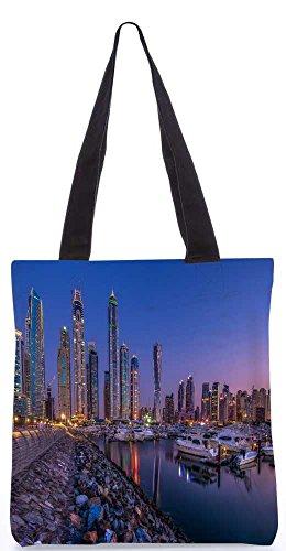 """Snoogg Yourd Seite See In Dubai Tragetasche 13,5 X 15 In """"Shopping-Dienstprogramm Tragetasche Aus Polyester Canvas"""