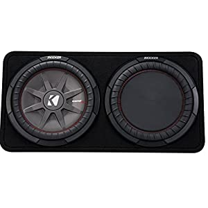 "Kicker 43TCWRT122 1000W 12"" 2-Ohm Slim Shallow Subwoofer+Box+Amplifier+Amp Kit (Package)"