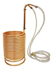 NY Brew Supply Wort Chiller w/vinyl tubing attachments, 1/2\