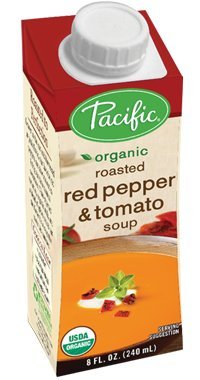 - Pacific Foods Organic Roasted Red Pepper and Tomato Soup, 8 Ounce Cartons, 12-Pack