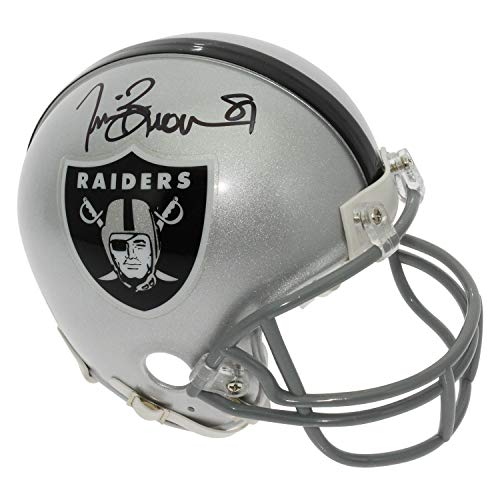 (Tim Brown Autographed Signed Oakland Raiders Mini Helmet - Certified Authentic)