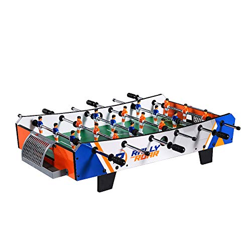 Rally and Roar Foosball Tabletop Games and Accessories, Mini Size - Fun, Portable, Foosball Soccer Tabletops Soccer - Recreational Hand Soccer for Game Rooms, Arcades, Bars, for Adults, Family Night (The Game Table)