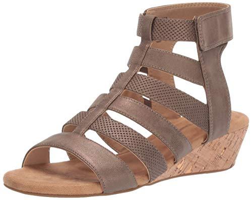 (Rockport Women Calia Gladiator Wedge Sandal Bronze 11 M US)