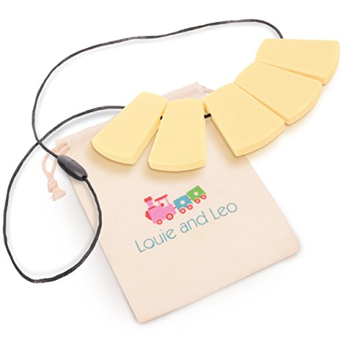 Price comparison product image Louie and Leo Big Block Silicone Teething Necklace for Mom (YELLOW)