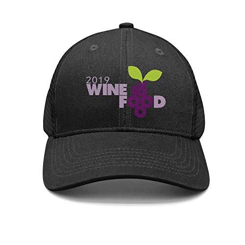Men's Classic Snapback Hats Atlanta-Food-and-Wine-Festival- Adjustable Visor Cap