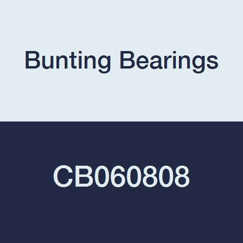 Bunting Bearings CB060808 Sleeve (Plain) Bearings, Cast Bronze C93200 (SAE 660), 3/8