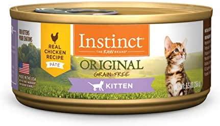 Instinct Original Kitten Grain Free Real Chicken Recipe Natural Wet Canned Cat Food by Nature's Variety, 5.5 oz. Cans (Case of 12)