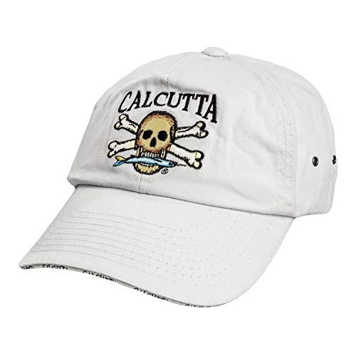 Calcutta Men's Low Profile Cap (White, One Size) - Logo Low Profile Cap