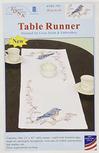Jack Dempsey Bluebird Table Runner/Scarf, 15