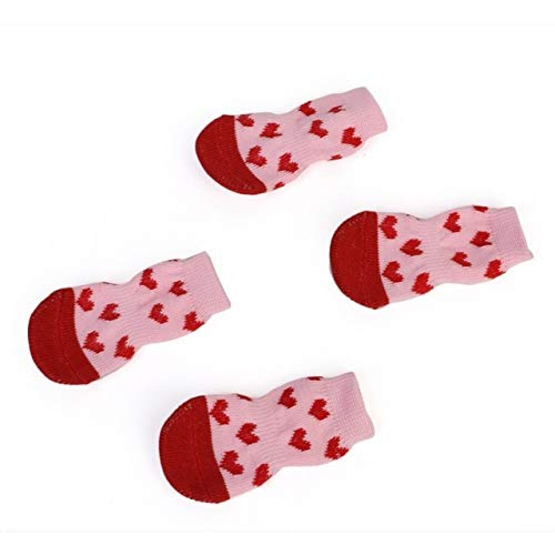 Cat Clothing - Pet Cat Sock Cotton Warm Antiskid Paw Dirt Easy Washing Indoor Dog Shoe - Hombre Vomit Computed Axial Tomography Caterpillar Throw Sick True Computerized - 1PCs
