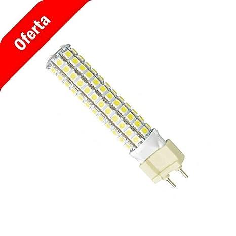 Bombilla led G12 10W 1.200lúmenes Blanco Frio. Sustituye a bombilla de halogenuro o descarga de 70W.: Amazon.es: Iluminación