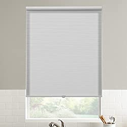 SBARTAR Cordless Light Filtering Honeycomb Cellular Blinds and Shades for Window, White, 36 inch x 64 inch