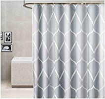 """Home Decorative Shower Curtain Set for Bathroom 72""""x79""""(180x200cm) with Hooks No Liner Needed Waterproof Quick-Drying..."""