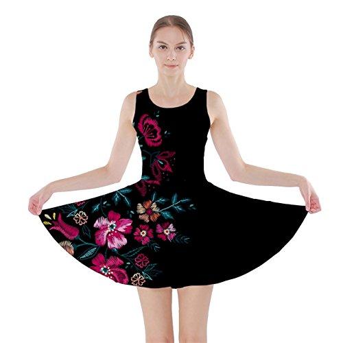CowCow Pink in Dark Skater Dress, Pink in Dark - 5XL (Adult Lilo Costume)
